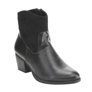 C Label Women's Black Faux Leather Inside Zipper Block Heel Booties|https://ak1.ostkcdn.com/images/products/13187076/P19909078.jpg?impolicy=medium