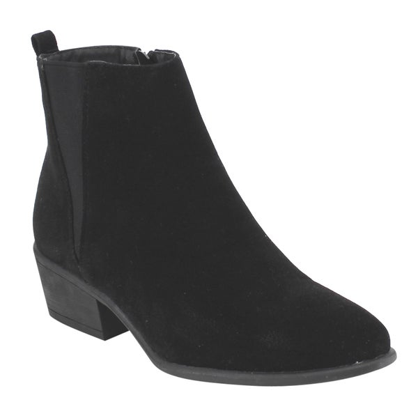 Beston DE04 Women's Chelsea Style Side Zipper Ankle Booties