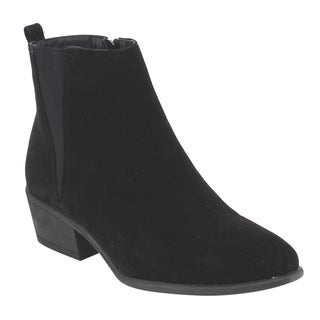 Beston DE04 Women's Chelsea Style Side Zipper Ankle Booties Half Size Small