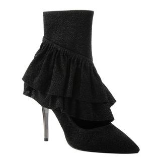 Cape Robbin Women's Glitter High Stiletto Lucite Heel Ankle Booties