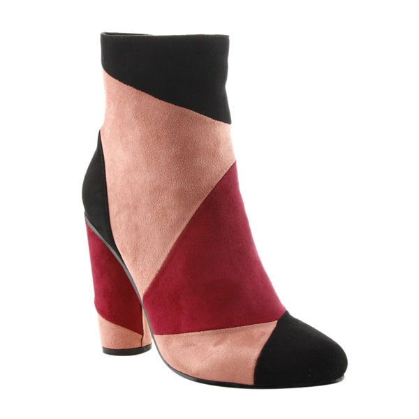 Shop Cape Robbin Ff12 Women S Patchwork Chunky Round Heel