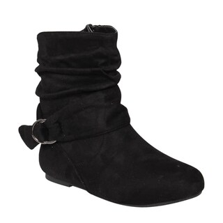 Da Viccino ED65 Women's Buckle Slouchy Flat Ankle Booties Half Size Small|https://ak1.ostkcdn.com/images/products/13187105/P19909104.jpg?_ostk_perf_=percv&impolicy=medium