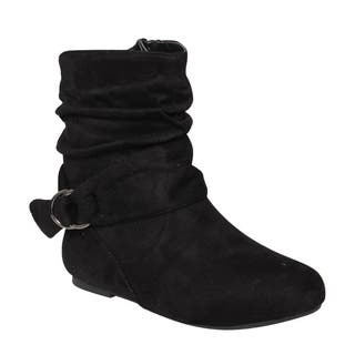 Da Viccino ED65 Women's Buckle Slouchy Flat Ankle Booties Half Size Small|https://ak1.ostkcdn.com/images/products/13187105/P19909104.jpg?impolicy=medium