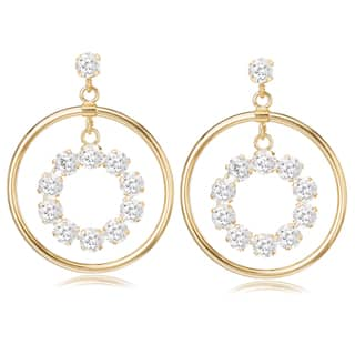 Avanti 14K Yellow Gold Cubic Zirconia Circular Dangle Earrings|https://ak1.ostkcdn.com/images/products/13187155/P19909126.jpg?impolicy=medium