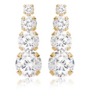 Link to Avanti 14K Yellow Gold Cubic Zirconia Journey Earrings Similar Items in Earrings