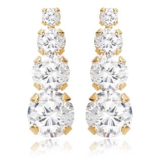 Avanti 14K Yellow Gold Cubic Zirconia Journey Earrings|https://ak1.ostkcdn.com/images/products/13187157/P19909127.jpg?impolicy=medium