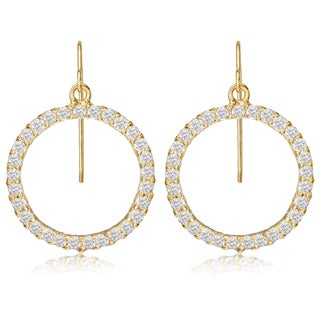 Avanti 14K Yellow Gold Cubic Zirconia Circle of Life Dangle Earrings