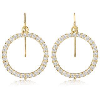 Avanti 14K Yellow Gold Cubic Zirconia Circle of Life Dangle Earrings|https://ak1.ostkcdn.com/images/products/13187159/P19909128.jpg?impolicy=medium