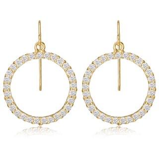 Avanti 14K Yellow Gold Cubic Zirconia Circle of Life Dangle Earrings