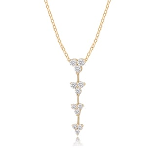 Avanti 14K Yellow Gold Cubic Zirconia Journey Dangle Pendant Necklace
