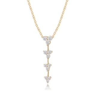 Avanti 14K Yellow Gold Cubic Zirconia Journey Dangle Pendant Necklace