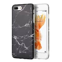Insten Marble TPU Rubber Candy Skin Case Cover For Apple iPhone 7 Plus