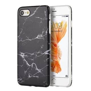 Insten Marble TPU Rubber Candy Skin Case Cover For Apple iPhone 7
