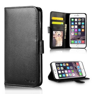 Insten Black Leather Case Cover with Stand/Wallet Flap Pouch/Photo Display For Apple iPhone 7
