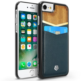 CobblePro Leather Bamboo wood Case Cover with Wallet Flap Pouch For Apple iPhone 6/ 6s/ 7