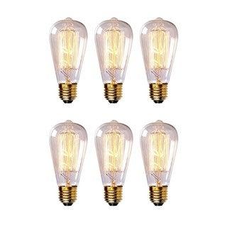 Edison 60-watt 600-lumens ST64 5.83-inches Long Dimmable Filament Light Bulbs (Pack of 6)