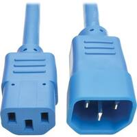 Tripp Lite 2ft Computer Power Extension Cord 10A 18 AWG C14 to C13 Bl