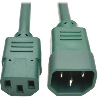Tripp Lite 6ft Computer Power Extension Cord 10A 18 AWG C14 to C13 Gr