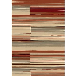 Opus Collection Red Polypropylene Machine-made Rug ( 7'10 x 10'10)