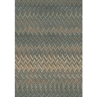 Machine Made Opus Grey Beige Polypropylene Rug ( 6' 7 x 9' 6 )