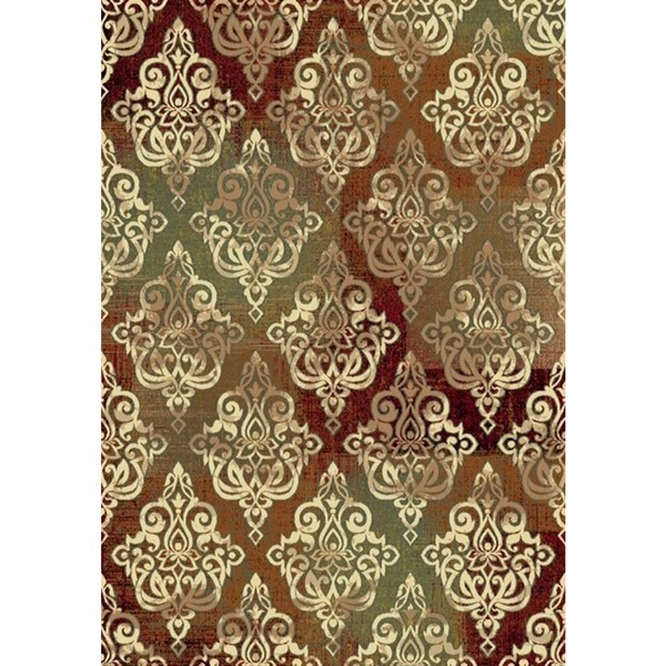 Dynamic Rugs Majestic Scrollwork Cream Machine-made Rug (3'6 x 5'6)