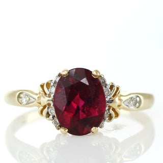 One-of-a-kind Michael Valitutti 14k Rubellite and Diamond Ring