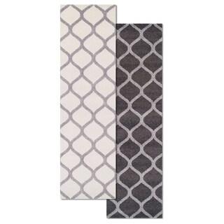 """Superior Designer Modern Trellis Area Rug (2'3"""" x 8')"""