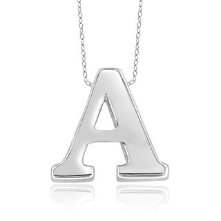 Jewelonfire 'A to Z' Initial Pendant in Sterling Silver (More options available)