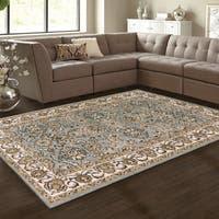Superior Elegant Lille Grey Area Rug (4' x 6') - 4' x 6'