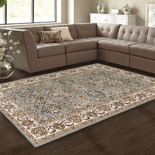 Superior Elegant Lille Grey Area Rug (4' x 6')
