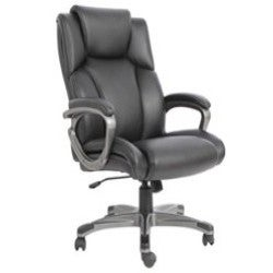 Essentials By Ofm Heated Shiatsu Mage Leather Executive Office Chair Black