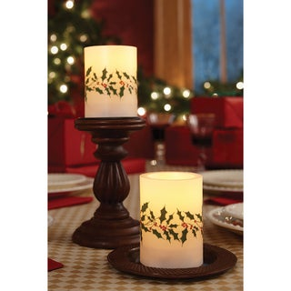 Apothecary 3pc Poinsettia Flameless LED Candle with Remote