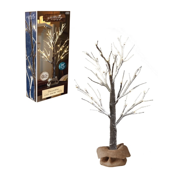 Shop Apothecary 2ft Led Snow Tree With Burlap Sack And