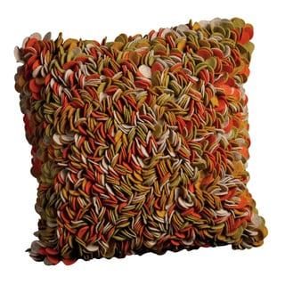 Mina Victory Felt Tulip Multicolor Throw Pillow (20-inch x 20-inch) by Nourison