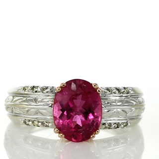One-of-a-kind Michael Valitutti 14k Two-Tone Rubellite and Diamond Ring