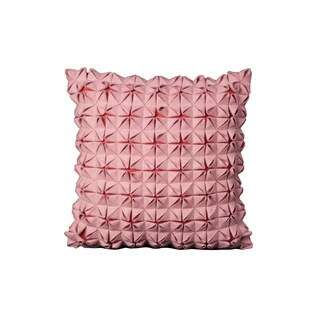 Mina Victory Felt Square Pockets Pink Throw Pillow (16-inch x 16-inch) by Nourison