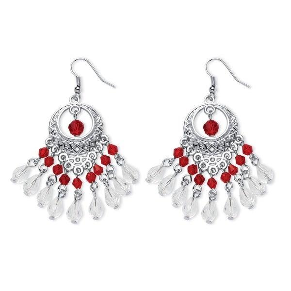 Color fun silvertone red crystal chandelier earrings free color fun silvertone red crystal chandelier earrings aloadofball Gallery
