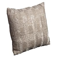 Mina Victory Luminescence Flying Fish Linen Throw Pillow (16-inch x 16-inch) by Nourison