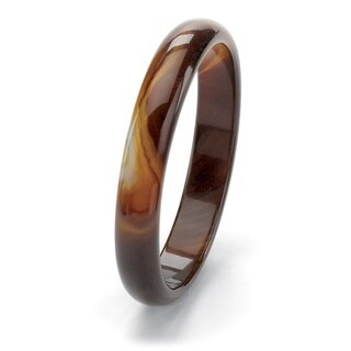 Genuine Brown Chalcedony 9-inch Bangle Bracelet (13mm)