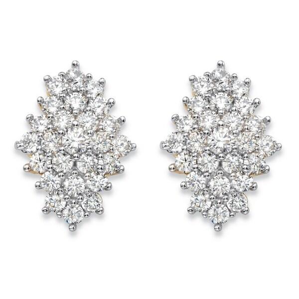 FB Jewels 925 Sterling Silver Mens Cubic Zirconia CZ Heart Stud Earrings 12mm x 10mm