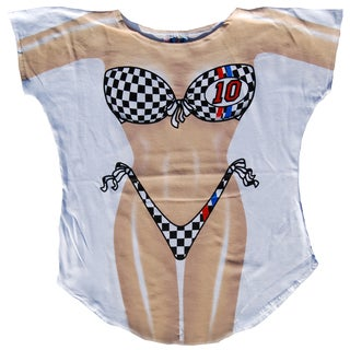 Fantasy Swimsuit 'Race Car' Multicolored Cotton Swimsuit Cover Up
