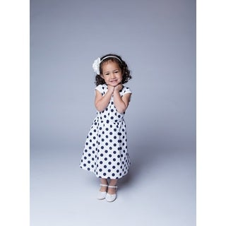 White and Navy Polka Dot Dress