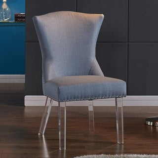 Armen Living Jade Modern and Contemporary Dining with Nailheads and Acrylic Legs