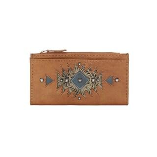 American West Women's Brown Leather Folded Wallet