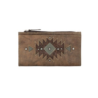 American West Women's Brown Leather Folded Wallet