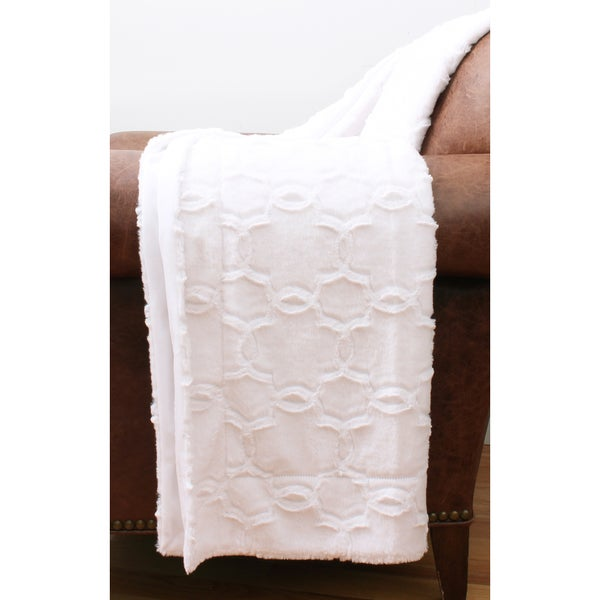 Axel Quatrefoil Brushed Faux Fur Throw