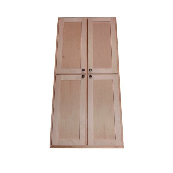 WG Wood Products Wood 24 Inch Wide X 3 5 Inch Deep Recessed Craftsman Double