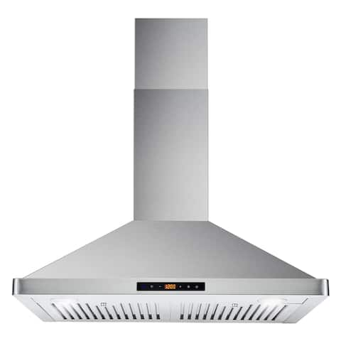 Cosmo 30 in. Ducted Range Hood in Stainless Steel with Touch Controls, LED Lighting and Permanent Filters