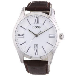 Hugo Boss Men's 1513021 'Ambassador' Brown Leather Watch