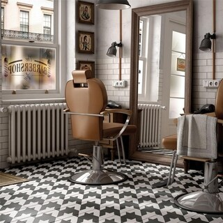 SomerTile 7.875x7.875-inch Piccola Black and White Tweed Porcelain Floor and Wall Tile (25/Case, 11.
